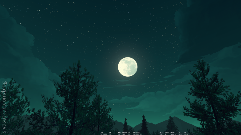 a scenery from Firewatch made by Sivasuthan Dhayalan